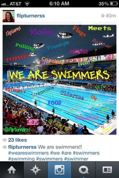 We are swimmers