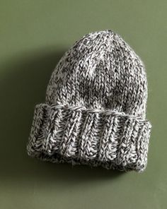 easy tweed hat.  free pattern by Lion Brand