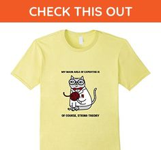 Mens String Theory Particle Quantum Physics Scientist Cat Shirt 2XL Lemon - Math science and geek shirts (*Amazon Partner-Link)