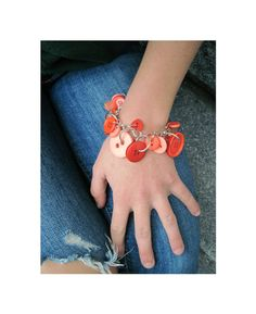 Jewelry Charm Bracelet Buttons  Jubilant  by LovesParisStudio, $30.00