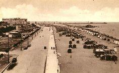 Rimini 1930 circa Lungomare verso il Grand Hotel