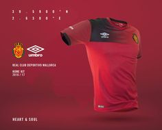 Camisas do RCD Mallorca 2016-2017 Umbro Titular
