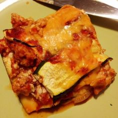 Ripped Recipes - Zucchini Noodle Lasagna - Craving lasagna but don't want all of the carbs that are attached to traditional lasagna? Switch out the pasta for zucchini and you'll hardly notice a difference!