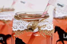 Western Theme Party Mason Jar Idea