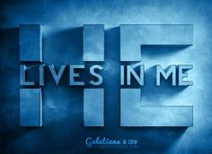He Lives In Me - Galatians I have been crucified with Christ; it is no longer I who live, but Christ lives in me; and the life which I now live in the flesh I live by faith in the Son of God, who loved me and gave Himself for me. Christian Life, Christian Quotes, Christian Retreat, Christian Movies, Bibel Journal, Gods Love, My Love, Jesus Freak, Son Of God