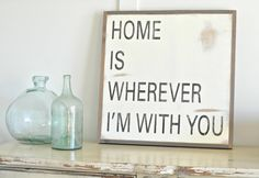Home Is Wherever by BetweenYouAndMeSigns on Etsy, $100.00