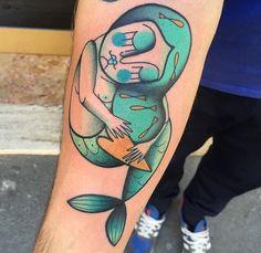 Ylenia Manzoni Vinil mermaid tattoo