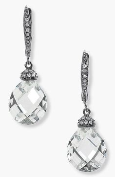 Nadri Faceted Crystal Drop Earrings available at #Nordstrom