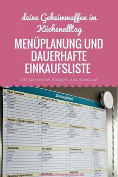Menu planning and permanent shopping list – secret weapons in everyday kitchen life - Home Cleaning Hacks Financial Planning, Menu Planning, Life Hacks, Finance, Budget Planer, Household Organization, Organizing, Clothing Hacks, Getting Organized