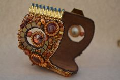 Bead Embroidered Bracelet Cuff Bead Embroidery by corporateschmad
