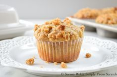 Banana Brown Sugar Crumb Muffins | Serena Bakes Simply From Scratch