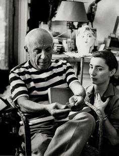 VILLERS André, *1930 (France)  Pablo Picasso et Jacqueline à Cannes. 1961