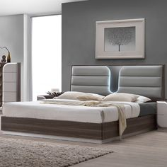 Shop Chintaly Imports London Bedroom Set with King Bed with great price, The Classy Home Furniture has the best selection of Master bedroom Complete Sets to choose from Master Bedroom Set, Bedroom Bed Design, Upholstered Platform Bed, Upholstered Beds, Contemporary Bedroom Sets, Contemporary Office, Modern Bedroom, Camas King, Bed Sizes