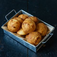 Very addictive gougeres or cheese puffs. They're gone in minutes!