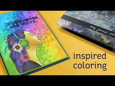 Inspired Coloring w/PlayJournal flipthrough Journal Pages, Journal Ideas, Journals, Sandy Allnock, Rainbow Paper, Cardmaking And Papercraft, Cool Backgrounds, Card Tutorials, Ink Pads