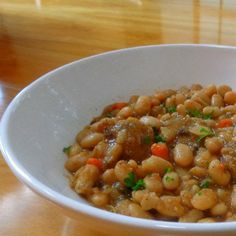 One Perfect Bite: Herbed White Bean and Sausage Stew#more#more