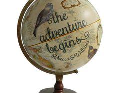 Push Pin Globe, Personalized Adventures Begins Pushpin Travel Globe, Customized Bird Push Pin Globe Art