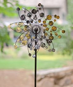 Look at this Gold & Silver Kinetic Garden Stake on #zulily today!