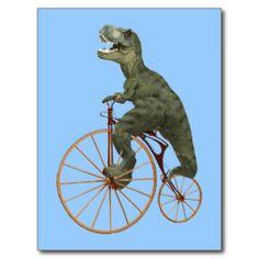 Tyrannosaurussen die Steampunk Stuiver Farthing be Wenskaarten