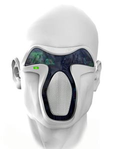 FUTURE - This futuristic digital mask would emulate the smell, sound and the quality of air for that wonderful fresh experience and also the facial expressions of the user can be detected. (Tuvie - Futuristic Technology, 2012)