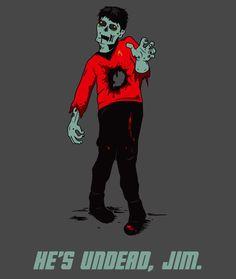 Zombie Star Trek T-Shirt