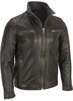 Men leather jacket men brown distressed by customdesignmaster, $159.99