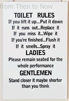Bathroom Etiquette Signs bathroom etiquette. trendy bathroom etiquette with bathroom