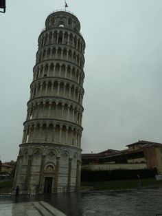 Leaning Tower 56 metres high. Pisa, Italy. February 2013