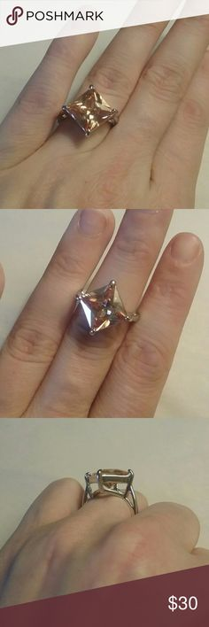 Morganite Ring size 6.5 Brand New Not Stamped Lab Created Jewelry Rings