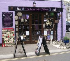 The Lavender Pillow, Mevagissey, Cornwall, UK. Pagan and spiritual shop. and Baz, the owner never fails to make me laugh. Just one warning though, shoplifters will be turned into toads. The sign says so!