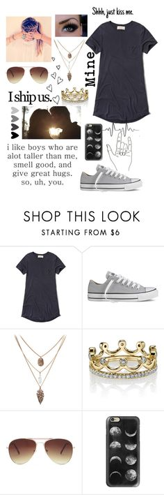 """Shhhh"" by hittysalvatore ❤ liked on Polyvore featuring Abercrombie & Fitch, Converse, Erica Courtney, Forever 21 and Casetify"