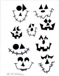 halloween deko basteln Lg Jack O Lantern Faces Dulceros Halloween, Moldes Halloween, Halloween Wood Crafts, Adornos Halloween, Halloween Projects, Holidays Halloween, Fall Crafts, Halloween Pumpkins, Holiday Crafts