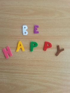 Be happy colorful felt magnet by 6street on Etsy, $3.20