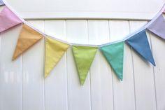color palette ideas RAINBOW SOLID sherbet pastel fabric flag by HatchlingsbyRachel, $30.00