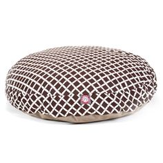 Large Round Pet Bed Chocolate Bamboo