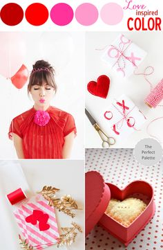 Love Inspired | A Palette of Reds and Pinks and X's and O's