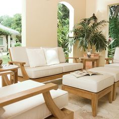 With the deep plush cushions of the lounge chairs, and their harmony with the side tables and sofa, this Laguna lounge set allows you to create a number of arrangements on your patio or in the living room, while maximizing comfort and relaxation. Whether as an entertainment lounge area in the living room, or a place to relax and read on the patio, this set meets all your needs for long-lasting luxury. The Laguna Collection has been designed with generous proportions and attention to detail, ...
