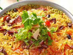 Chicken-Chorizo Paella Recipe : Jose Garces : Food Network