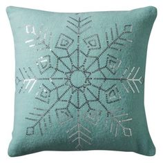 Sequin Snowflake Pillow | Everything Turquoise