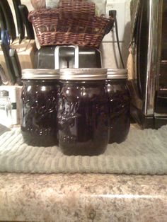 Blue Berry Jam... I so love canning