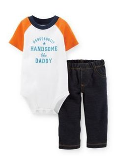 Carters  2-Piece Dangerously Handsome Bodysuit and Jean Set