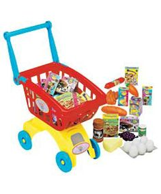 East of india wooden noahs ark baby pinterest personalized chad valley shopping trolley playset negle Images