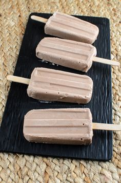 Low Syn just 2 ingredient Fudgsicles - perfect ice pops for those chocolatey cravings in the hot summer months.