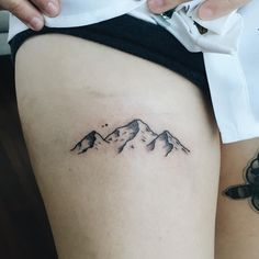 Tattoos by Olivia Harrison - mountains for maria october 23 / 2015