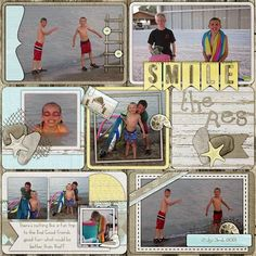 Kit: Along the Seashore by Scraps N Pieces Template: Life's A Project 7 by AKDesigns