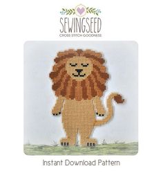 Lion cross stitch pattern Wizard of Oz Instant by Sewingseed, $5.00