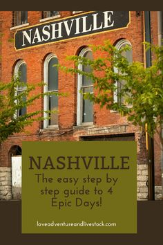 This perfect 4 day Nashville itinerary is an epic way to spend some time both in the city and the surrounding country. Take advantage! #Tennessee#Nashville #Thingstodo #Nashville Must-Do Bucket List #Nashville Tennessee food #Best Restaurants in Nashville #Downtown In Nashville #What To Do In Nashville Beautiful Places In America, Beautiful Places To Travel, Best Places To Travel, Nashville Downtown, Nashville Tennessee, Best Vacation Destinations, Vacation Spots, United States Travel, City Guides