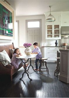 Kitchen by Nam Dang-Mitchell  love the grey door