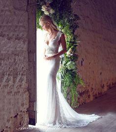 Vestido de noiva com renda para praia
