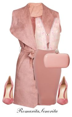 """""""Blush Rush"""" by romaritasenorita ❤ liked on Polyvore featuring Alexander McQueen and Gianvito Rossi"""
